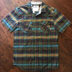 Men's Teen Like New Vans Plaid Snap Up Shirt Sz M